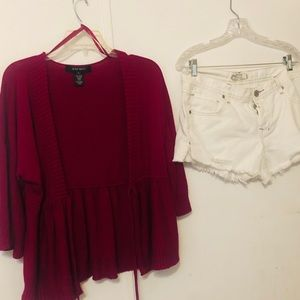 Free People Shorts &Cover Up